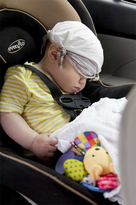 Baby bil farlig